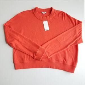 New Splendid Orange Crew Neck sweater